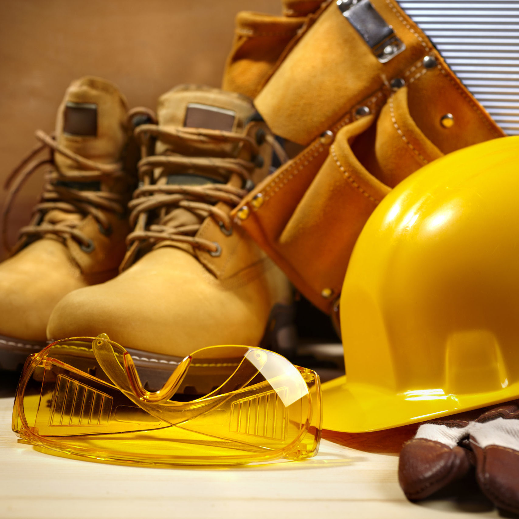 hardhat and shoes
